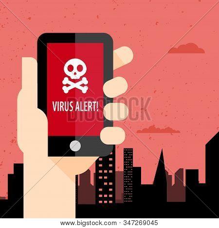 Hazardous Area Notification. Notice Of Communicable Disease Area Notification To Mobile Phones. Viru