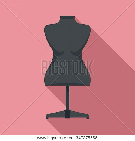 Plastic Mannequin Icon. Flat Illustration Of Plastic Mannequin Vector Icon For Web Design
