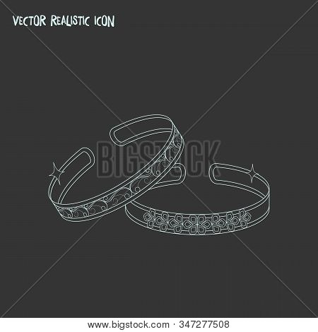 Bracelet Icon Line Element. Vector Illustration Of Bracelet Icon Line Isolated On Clean Background F