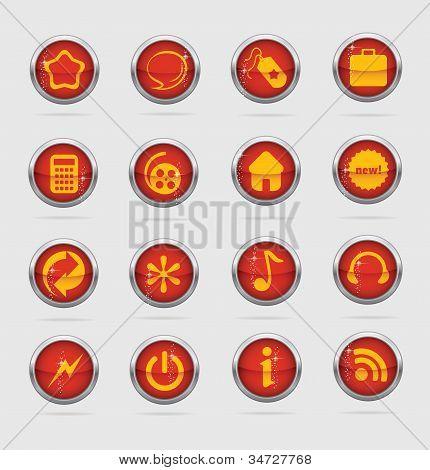Web and creative metal cirlcle symbols