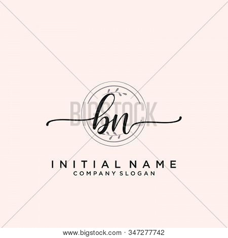 Bn Letter Initial Vector Photo Free Trial Bigstock