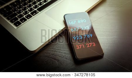2-step Authentication, Two Steps Verification Sms Code Password Concept. Smartphone With Special 2fa