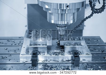 The Cnc Milling Machine Finishing Cut The Injection Mold Parts By Solid Ball  Endmill Tools. The Mol