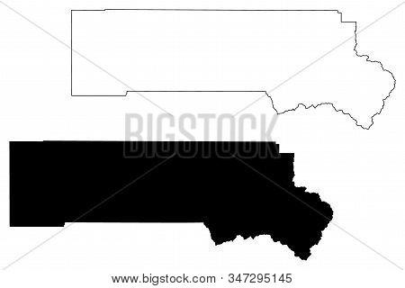 San Miguel County, Colorado (u.s. County, United States Of America,usa, U.s., Us) Map Vector Illustr