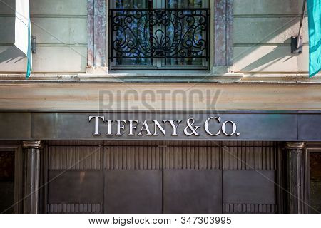 Paris/france - September 10, 2019 : The Tiffany And Co Jewelry Store On Champs-elysees Avenue