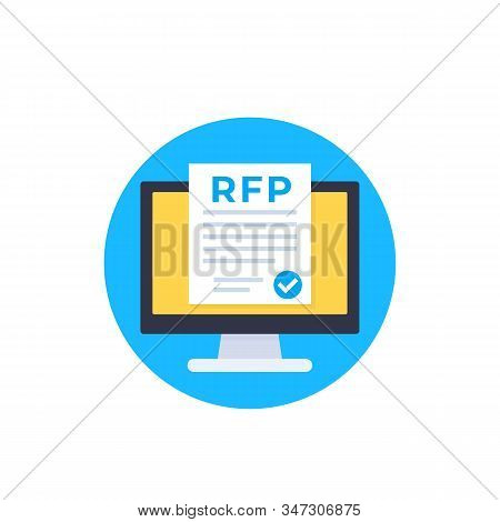 Rfp, Request For Proposal Icon, Eps 10 File, Easy To Edit
