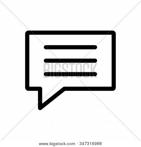 Text Message Icon Isolated On White Background. Text Message Icon In Trendy Design Style. Text Messa