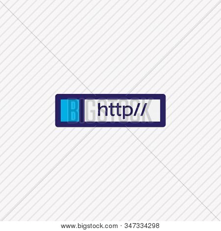 Vector Illustration Of Web Address Icon Colored Line. Beautiful Web Element Also Can Be Used As Http