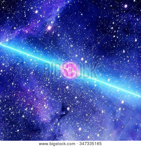 Spinning Pulsar Unleashes Crippling Waves Of Ultra-high-energy Cosmic Rays Radiation. Singularity, G