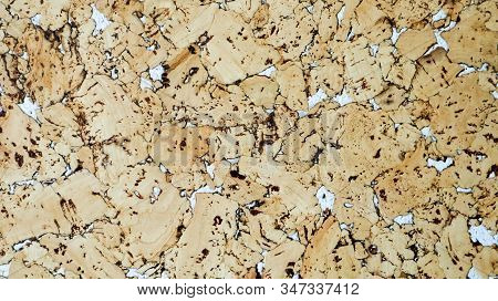 The Texture Of The Cork. Wall Covering Cork White Accents. Cork Board Texture Background. Decorative