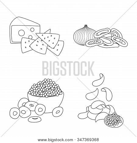 Isolated Object Of Taste And Crunchy Sign. Collection Of Taste And Cooking Vector Icon For Stock.