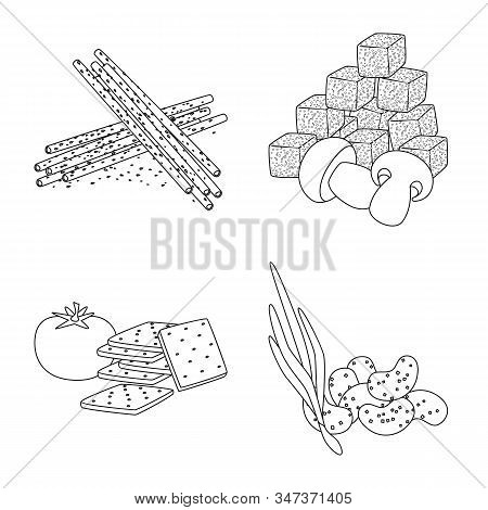 Vector Illustration Of Taste And Crunchy Logo. Collection Of Taste And Cooking Stock Symbol For Web.