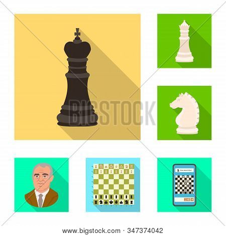 Vector Design Of Checkmate And Thin Sign. Collection Of Checkmate And Target Vector Icon For Stock.