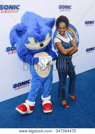 Tika Sumpter at the Los Angeles premiere of 'Sonic the Hedgehog' held at Paramount Theatre in Los Angeles, USA on January 25, 2020.