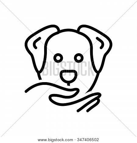 Black Line Icon For Obedient Compliant Dutiful Cooperative Adorable