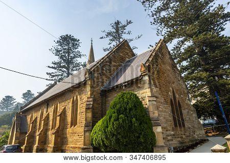 Facade Of The Magnificent Kiama Scots Presbyterian Church, Built In 1863 In Early English Architectu