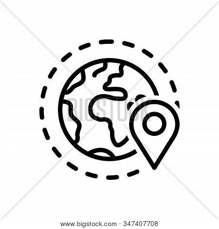 Black Line Icon For Periphery Geo-zone Geo Gps  Location  Navigation Pointer Locally App Localizatio