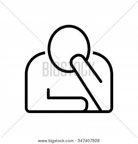 Black Line Icon For Perturbation Disorganizat  Worried Sadness Derangement Boredom Dispirited Stress