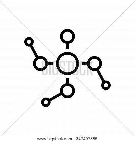 Black Line Icon For Phosphoric Phosphorous Acid Atomic Chemistry Chemical Element Formula