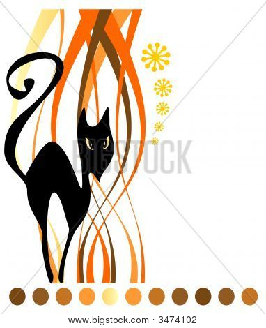 Black Cat And Strips