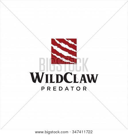 Wild Claw Logo Design . Wild Animal Monster Claws Scratches