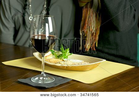 Red Wine And Appetizer