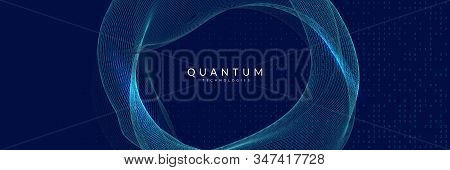 Quantum Innovation Computer. Digital Technology. Artificial Intelligence, Deep Learning And Big Data