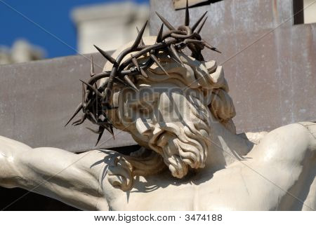 Statue Of Jesus Christ At Cross In Avignon, France