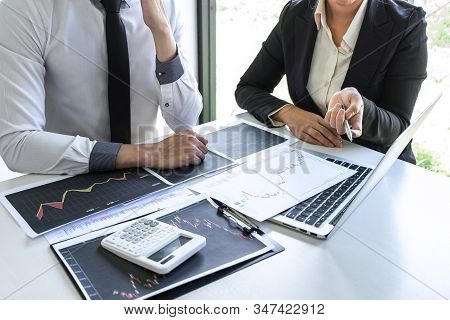 Business Team Investor On Meeting Having Planning And Analyzing Of Partner Cooperation In Investment