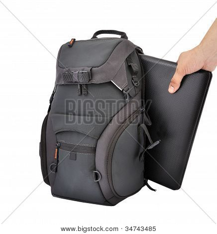 Backpack And Laptop