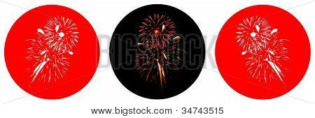 trio fireworks display