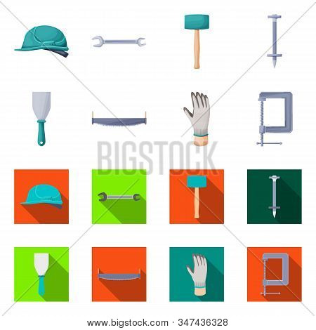 Isolated Object Of Renovation And Household Sign. Set Of Renovation And Handicraft Stock Vector Illu