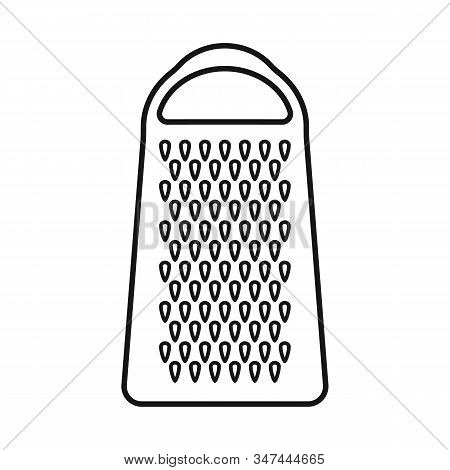 Vector Illustration Of Grater And Flatware Symbol. Web Element Of Grater And Instrument Stock Vector