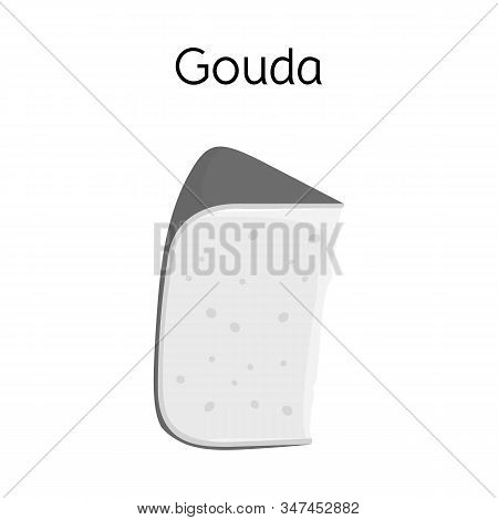 Vector Design Of Cheese And Gouda Symbol. Web Element Of Cheese And Slice Vector Icon For Stock.