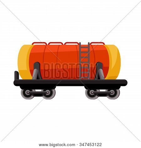 Vector Design Of Wagon And Cistern Sign. Web Element Of Wagon And Tank Vector Icon For Stock.