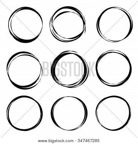 Hand Drawn Circle Or Scribble Circles Collection