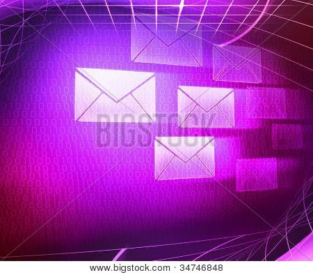 Violet Mail Abstract Background