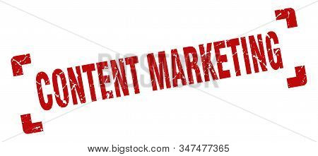 Content Marketing Stamp. Content Marketing Square Grunge Sign. Content Marketing