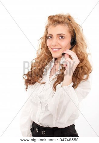 Young Business Female Customer Service Representative
