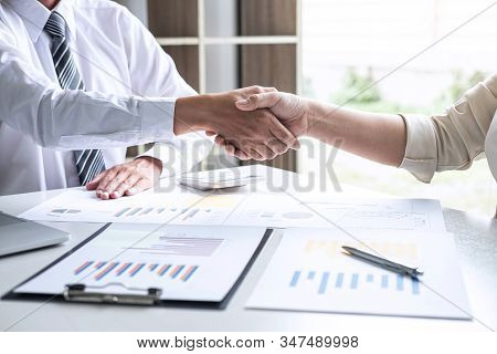 Finishing Up A Conversation After Collaboration, Handshake Of Two Business People After Success Good