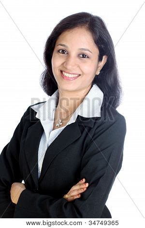 Arms Crossed Young Business Woman
