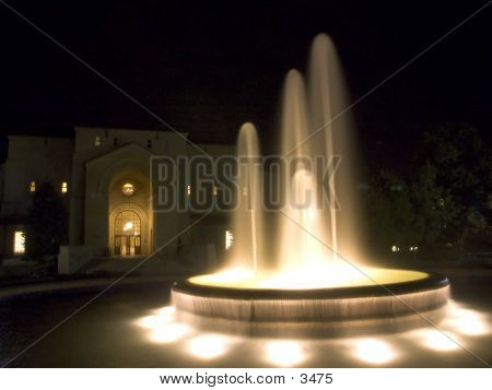 Water Fountain At Night