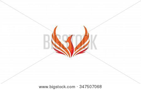Phoenix Fire Logo Icon Vector Symbol Simple