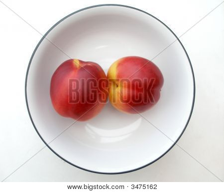 Nectarines In A Fruit Bowl