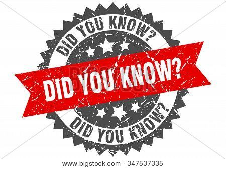Did You Know Grunge Stamp With Red Band. Did You Know