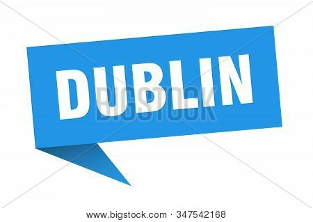 Dublin Sticker. Blue Dublin Signpost Pointer Sign