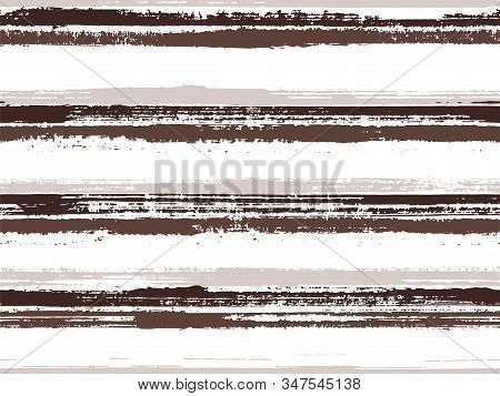 Hand Painted Stripes Clothes Seamless Vector Pattern. Simple Backdrop Grafitti. Grunge Brush Stroke