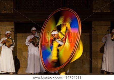 Egyptian Sufi Dancing Motion Blur Yellow