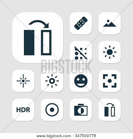 Image Icons Set With Flare, Hdr, Healing And Other Turn Elements. Isolated Illustration Image Icons.