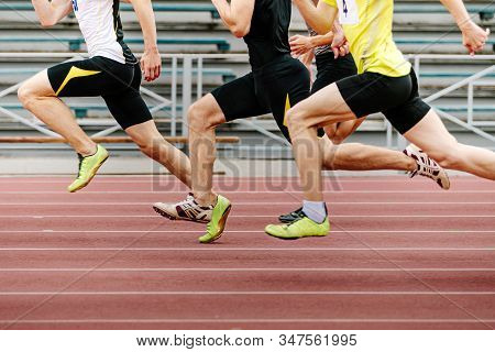 Legs Men Athletes Runners Running Race Sprint In Athletics